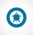 turtle bold blue border circle icon vector image vector image