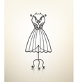 vintage metal dress hanger tailor studio vector image vector image