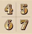 vintage western numbers alphabet letters font vector image vector image