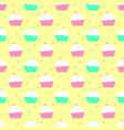 violet and mint cakes pattern vector image vector image