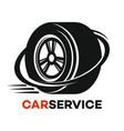 wheel and car service logo vector image