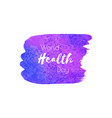 world health day hand paint ultra violet vector image