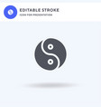 Yin yang icon filled flat sign solid