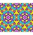 Geometric Flower Fractal Pattern vector image