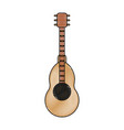 acoustic guitar instrument vector image vector image