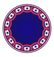 american blue symbols round sign frame vector image vector image