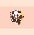 baby cute panda logo vector image vector image