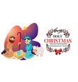 baby jesus born in bethlehem scene in holy family vector image vector image