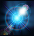 blue magic light star background vector image