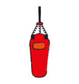 boxing bag equipment vector image vector image