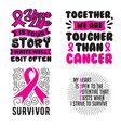 breast cancer quote and saying best for print vector image vector image