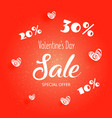 bright flyer with happy valentines day text vector image vector image