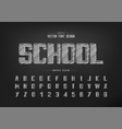 chalk bold font and alphabet hand draw typeface vector image vector image