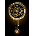 Clock with Pendulum vector image vector image