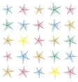 Colorful hand drawn sketched starfish decoration vector image vector image