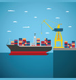 concept of river ocean and sea freight shipping vector image