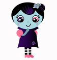 Cute thinking Valentine Vampire girl vector image vector image