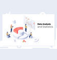 data analysis and statistics concept isometric web vector image vector image