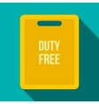 Duty free bag flat icon vector image vector image