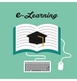 e-learning icon design vector image