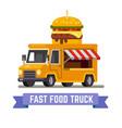 fast food van vector image