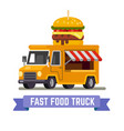 fast food van vector image vector image