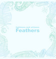 feathers frame vector image vector image