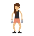 female athlete practicing weight lifting vector image vector image
