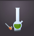 glass bong icon apparatus for smoke weed marijuana vector image