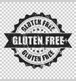 gluten free scratch grunge rubber stamp on vector image