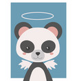 guardian angel panda vector image