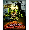 Halloween night background EPS 10 vector image vector image