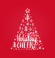 handwritten phrase holidays cheer vector image vector image