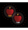 heart shaped candle vector image vector image