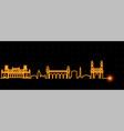 hyderabad light streak skyline vector image vector image