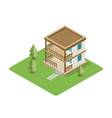 isolated isomatic house property set vector image vector image