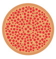 isolated pizza icon vector image vector image