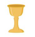 jewish golden wine cup icon vector image vector image