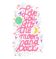 love you to the moon and back lettering vector image vector image