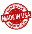 made in usa sign or stamp vector image vector image