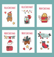 merry christmas greeting cards and vector image vector image