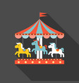 merry go round vector image vector image