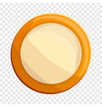 milk biscuit icon cartoon style vector image vector image