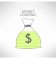 Money bag with loading bar inside icon Financial vector image