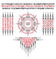 muay thai red sacred symbol tattoo vector image vector image