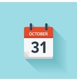 October 31 flat daily calendar icon Date vector image vector image