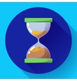Old vintage hourglass icon flat - time
