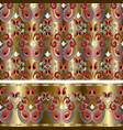 paisleys seamless wallpaper pattern and border vector image vector image