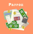 payroll invoice financial calculations working vector image vector image