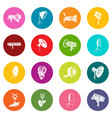 photography icons set colorful circles vector image vector image